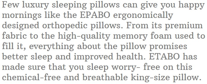 17. EPABO Contour Orthopedic Sleeping Pillows