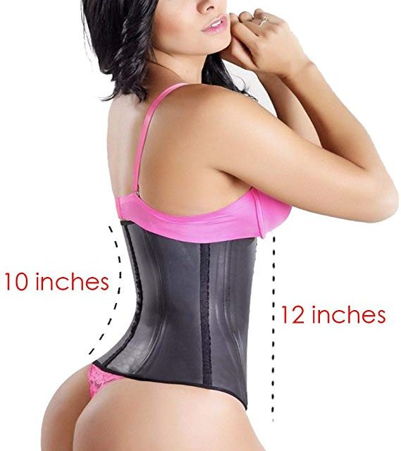 LadySlim by NuvoFit Fajas Colombiana Latex Waist Trainer/Cincher/Trimmer/Corset Weight Loss Shaper