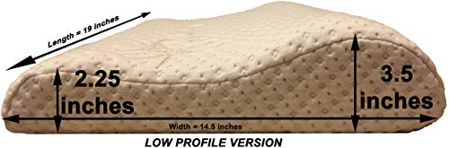 3. Thin Profile Memory Foam Neck Pillow